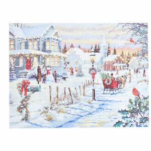 "24"" WINTER WONDERLAND LIGHTED PRINT Wall CHRISTMAS Art RAZ 4039414 NEW!"