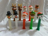 PEZ Lot 10 Christmas Holiday Winter - Snowman, Santa, Reindeer, Elf, Polar Bear