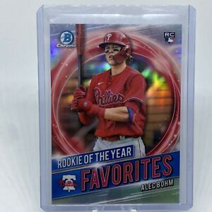 2021 Bowman Rookie Of The Year Favorites Alec Bohm Chrome Rookie Card RC