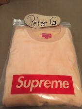 !!! SUPREME Ribbed Velour Crewnweck - AW17 Collection - Color Peach - DS !!!