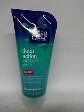 Clean & Clear Scrub Deep Action Exfoliating 5 Ounce Oil-Free (148ml) (6 Pack)