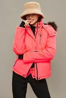 Topshop Snow Ski Jacket With Faux Fur Hood Size UK8 EUR36 US4