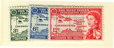 ST CHRISTOPHER NEVIS ANGUILLA 1958 CARIBBEAN FEDERATION BLOCKS OF 4 MNH