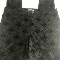 DB est 1962 pants black floral size 1 X