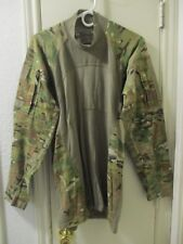 Used OCP X-Large Multi Colored Brown/Green Combat Shirt, Flame Resistant!