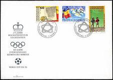 Liechtenstein 1994 Anniversaries, World Cup Football Cover #C33536