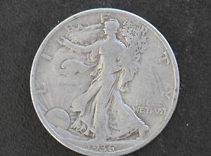 1936-D Liberty Walking Half Dollar 90% Silver U. S. Coin D6451