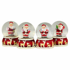 4 Traditional Father Christmas Snow Globes Festive Home Ornaments