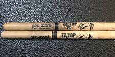 ZZ TOP - FRANK BEARD -  REAL 1994 STAGE USED CUSTOM TOUR DRUMSTICKS - RARE!