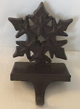 """Metal SNOWFLAKE Christmas Stocking Hanger ....Expresso Brown color 5.5""""H"""