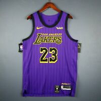 100% Authentic Lebron James Nike City Edition Lakers jersey Size 48 L Large Mens