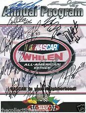 NASCAR WHELEN ALL-AMERICAN SERIES MYRTLE BEACH SPEEDWAY AUTOGRAPHED PROGRAM