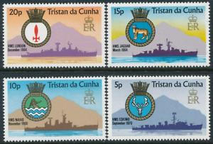 Tristan Da Cunha - 1977 - Sc 216 - 19 - Royal Navy Ships and Arms VF MNH