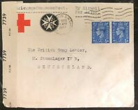 1944 London England Red Cross Censores Cover To Stalag IV-B POW Camp Germany
