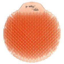 More details for p wave slant6 urinal screen - mango - highly fragranced & biodegradable