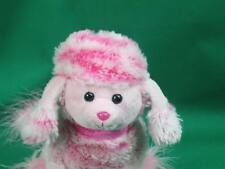 FEATHER BOA FURRY PEOPLE PALS PINK  POODLE PUPPY DOG PLUSH STUFFED ANIMAL TOY