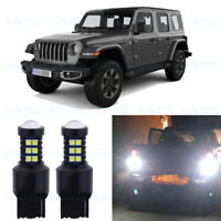 Pair White Led Under Side Mirror Light Puddle Lamps For