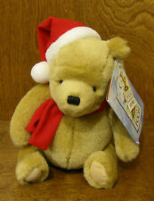 """Classic Pooh Gund  Plush #7988 POOH w/ Christmas Hat/Scarf 8"""" From Retail Shop"""