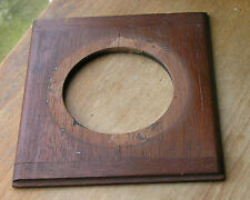 """wooden lensboard 4.5"""" X  5""""  67mm hole 5mm thick rebate top and bottom used"""