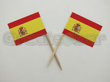 72 Spanish Flag Picks - Buffet Sandwich Cupcake Toppers - SPAIN Flags