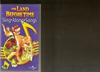 THE LAND BEFORE TIME SING ALONG SONGS VHS VIDEO KIDS