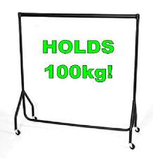 2 x SUPER Heavy Duty Clothes Rail 4ft Long x 5ft High Garment Hanging Rail NEW