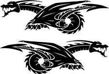 Tribal Dragon Car Camper Van Truck Window Stickers #8