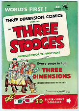 THREE STOOGES 3-D #2 4.0 OFF-WHITE PAGES GOLDEN AGE
