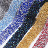 1 Yard DIY Rhinestone Ribbon Sparkle Diamante Trim Sewing Craft 3cm Width Decor