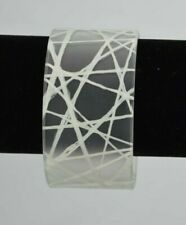 Cuff Bracelet Ecofriendly Artisan Jewelry Color By Amber Cbs White String