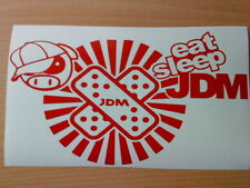 EAT SLEEP JDM Mad Pig Adesivi AUTO DRIFT RACING Divertente Vinile graphicdecal Giappone