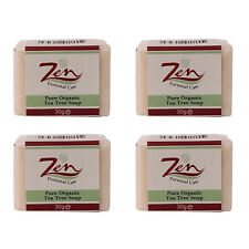 TEA TREE FACIAL SOAP ONLY 30ml Pack4  Best Treatment for Acne Skin Irritations