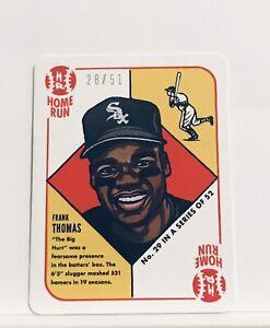 1951 Topps by Blake Jamieson Frank Thomas Blue Parallel  28/51 SP White Sox