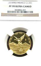"New Listing2014 1/4 oz gold Libertad Ngc Pf 70 ""Treasure Coin of Mexico â""¢"""