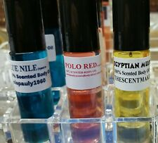 "100% Scented Body Oils Three 1/3oz. Roll-On Bottles ""See Item Description"""