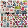 NURSERY CHILDREN FABRIC PER METRES FAT QUARTERS CRAFT SEWING COWBOYS DOGS OWLS