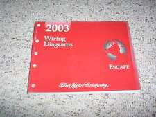 2003 Ford Escape Electrical Wiring Diagram Manual XLS XLT Limited 2.0L 3.0L V6