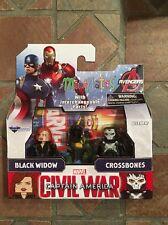Marvel Minimates BLACK WIDOW & CROSSBONES TRU Civil War Movie Captain America