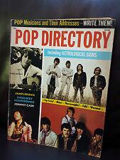 Pop Directory Magazine Vol 1 No 1 Pop musicians & Their Addresses 1970