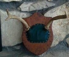 Vintage European Style Deer Antler Mount Plaque Parowan Utah 1968 Man Cave Lodge