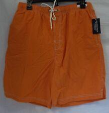 Roundtree & Yorke Swimwear Size L Large Orange New Mens Swimming Trunks