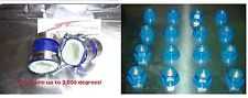 Banshee Lug nuts and exhaust pipe clamps fmf,dg, Factory (Blue) DRESS UP KIT