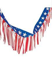 "USA Plastic Fringe Fan Flag American United States Banner Flags 14"" x 100'"
