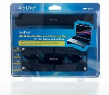ArtDio USB Audio Bar and Cooling Fan for Laptop or Netbook (72-BP301) NEW