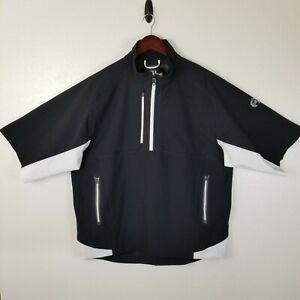 Footjoy Dryjoys Tour XP Men's Golf Short Sleeve Rain Jacket Black White Mens L