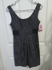 New Women's Love Culture Black & Gray Denim Jean Tank Top Dress Size Small Cute!