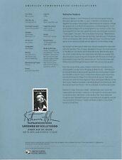 #4461 44c Katherine Hepburn USPS #1013 Souvenir Page