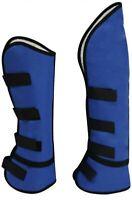 Set of 4 Showman BLUE Cordura Nylon Horse Shipping Boots! NEW HORSE TACK!