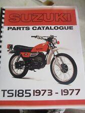 Suzuki TS185  parts manual  1973 1974 1975 1976 1977
