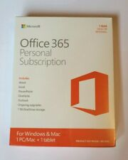 BRAND NEW Microsoft Office 365 Personal PC or Mac Subscription Retail